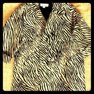 Caroline Rose Animal Print Swing Coat